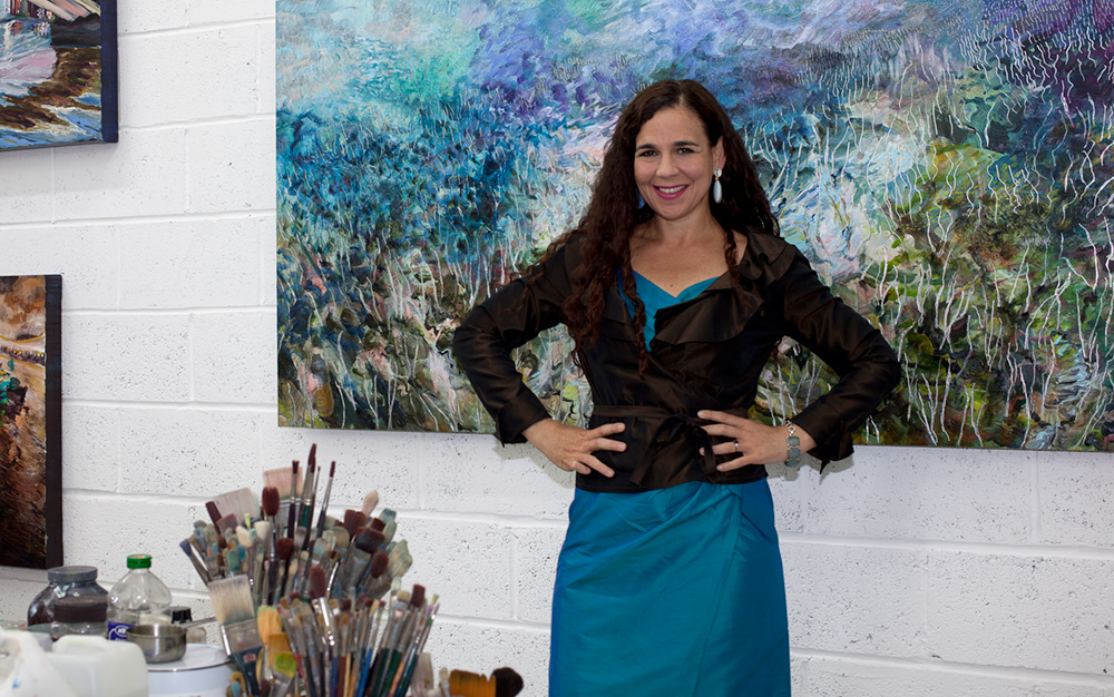 Image of Lynn Parotti in her studio